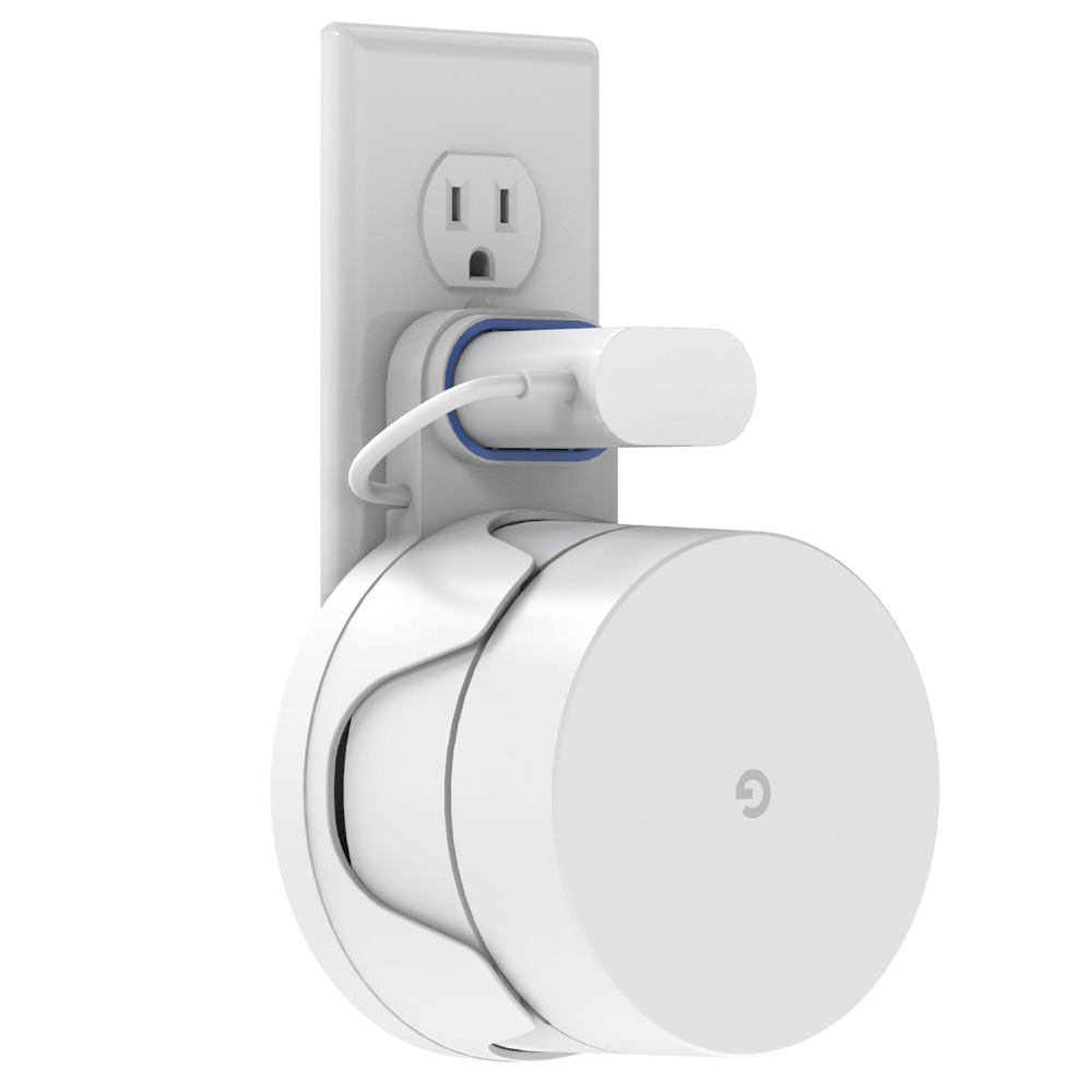 Google WiFi Wall Mount Holder, WiFi Mount Google Mesh WiFi System Google WiFi Router Without Messy Wires Screws