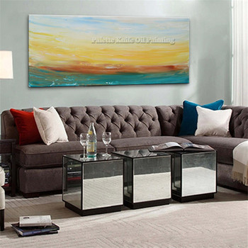 Hand painted large modern land abstract canvas oil painting wall decor Art pictures for living room cuadro home decoracion 8