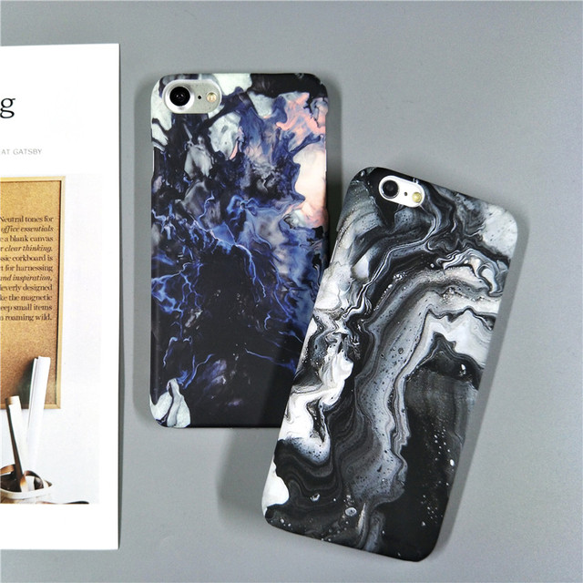 Hot Moon Space Map Marble Slim Hard Plastic Phone Case For iPhone 8 7 7Plus 5 5G 5S SE 6 6G 6S 6Plus