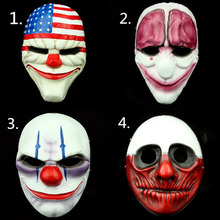 (4PC/Lot) Wholesale PVC Scary Clown Mask Payday 2 Halloween For Antifaz Party Mascara Carnaval