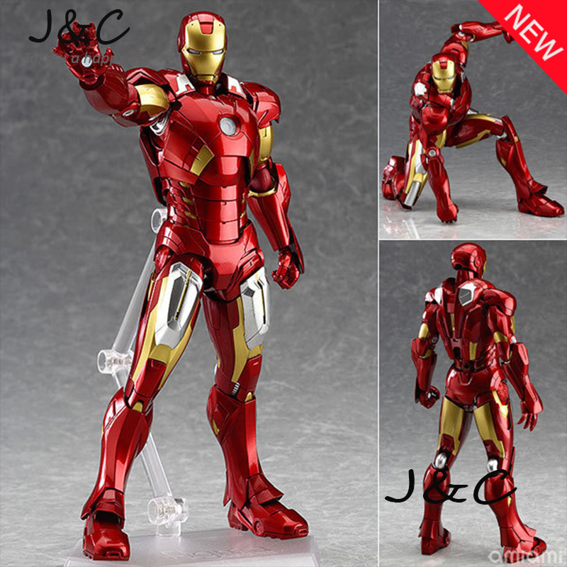 New Figma 217 The Avengers IronMan Action Figure 16cm Iron Man Doll PVC ACGN figure Toy Brinquedos Anime kids toys hot the avengers ironman action figure 17 5cm mk42 mk43 iron man doll pvc acgn figure toy brinquedos anime kids toys
