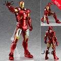 Nueva Figma 217 The Avengers IronMan Figuras de Acción 16 cm Iron Man Muñeca PVC ACGN Brinquedos Anime figura de Juguete para niños juguetes