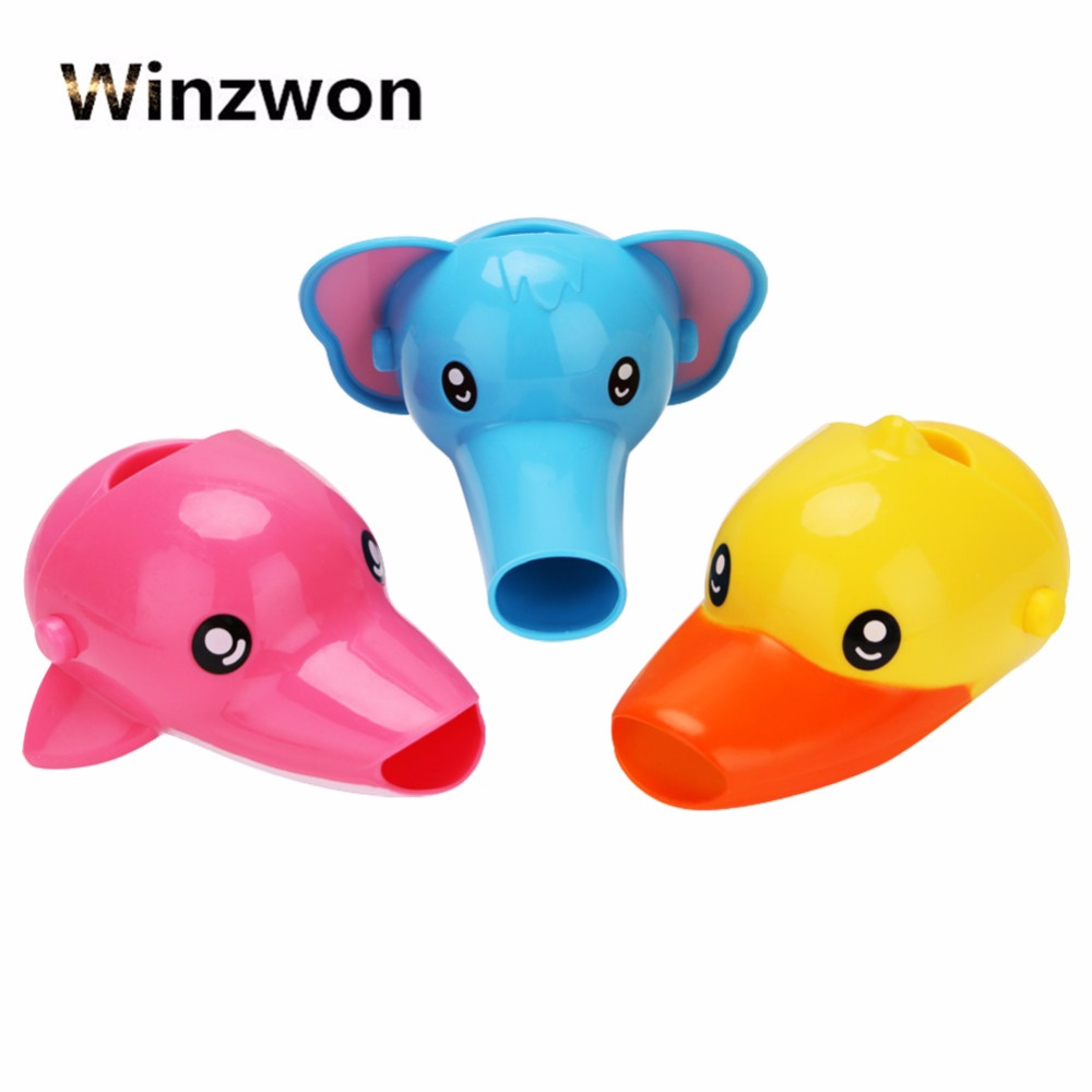 Animals Faucet Extender Baby Tubs Kids Hand Washing Bathroom Sink Gift Fashion And Convenient Kitchen Faucet Head Water Spout