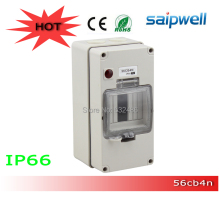 200*100*100mm 2014 Most Popular IP66 Electrical power ditribution box small clear ABS boxes SPS-4WAY/56CB4N
