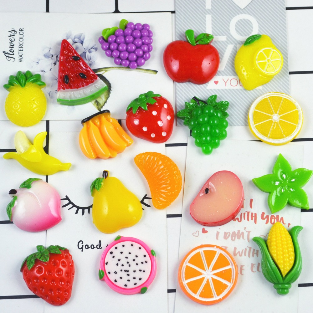 30Pcs/Lot Fruit Grape Diy Lizun Slime Charms Supplies Accessories For Slime Filler Miniature Resin Kids Polymer Plasticine Gift