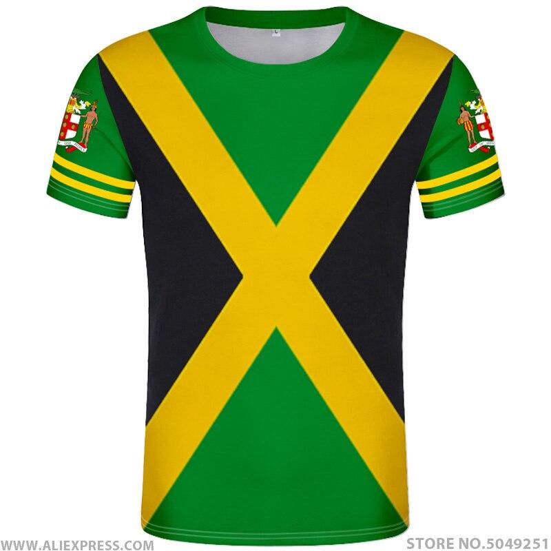 JAMAICA   t     shirt   diy free custom made name number jam   t  -  shirt   nation flag jm Jamaican country college print photo logo 0 clothing