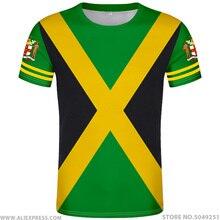 JAMAICA Áo DIY Tự do tự làm Tên số mứt Áo Thun quốc gia cờ JM Jamaica quốc gia cao đẳng in hình logo 0 quần áo