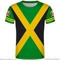 Jam AICA футболка diy Бесплатная изготовление под заказ имя номер Джем футболка nation flag jm jam aican кантри колледж печать фото логотип 0 одежда