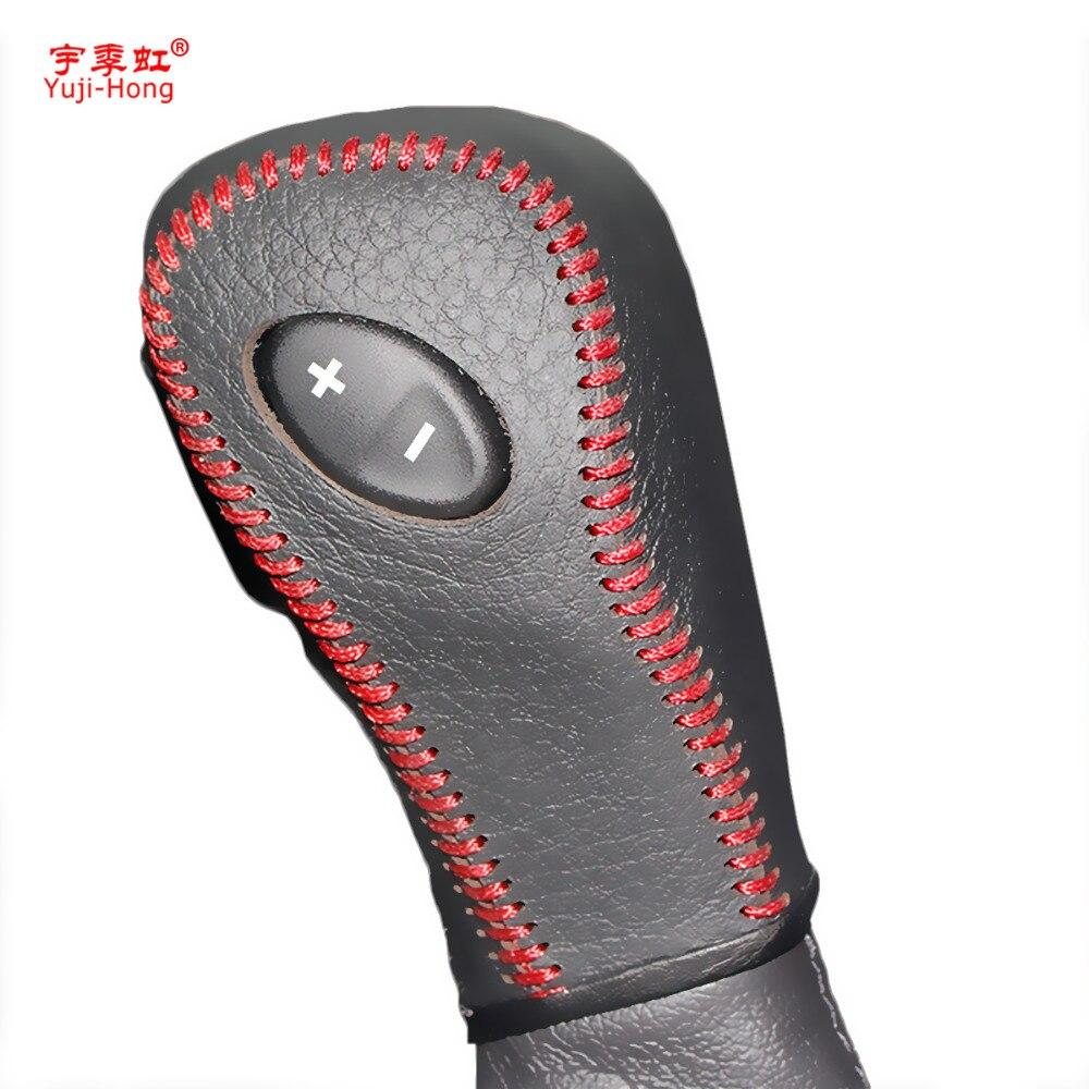 Yuji-Hong Auto Getriebe Abdeckungen Fall für Ford Edge 3.5L 2011 Explorer 3,5 2011-2013 Automatische Shift Halsbänder echtes Leder Abdeckung