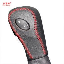Yuji Hong Mobil Perlengkapan Mencakup Kasus untuk Ford Sisi 3.5L 2011 Explorer 3.5 2011-2013 Otomatis Shift Collars sarung Kulit Asli
