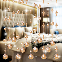 Sitting Room Porch Partition Crystal Bead Curtain Shade Curtain Household Toilet Bead Curtain Customization