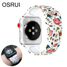 OSRUI correa de silicona para apple watch banda 4 3 44mm 40mm iwatch banda correa apple watch 42mm 38mm pulsera correa de muñeca Accesorios(China)