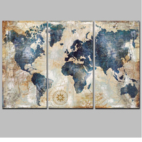 3PCS Full Diamond Embroidery World Map Diy Diamond Paintings Full Mosaic wall art Modular pictures canvas pictures JS2292