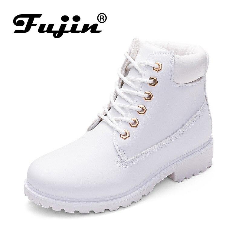 Фуцзинь бренд весна осень зима Одежда высшего качества удобные ботинки на платформе женские ботильоны резиновая Сапоги и ботинки для девочек Женская обувь Botas