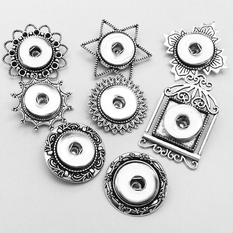 8 Styles  brooch Snap button Jewelry  Christmas gift for girls women  (fit 18mm 20mm snaps ) XJ006  bobosgirl snap button jewelry