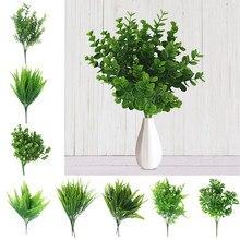 Nowe sztuczne krzewy kreatywny dekoracyjny sztuczna roślina paprocie sztuczna roślina plastikowy kwiat paproci ścienne akcesoria materiałowe