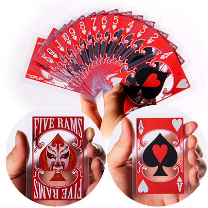 Cartões de jogo plásticos impermeáveis geados da cara transparente para o presente/festa/jogo da família poker mágico