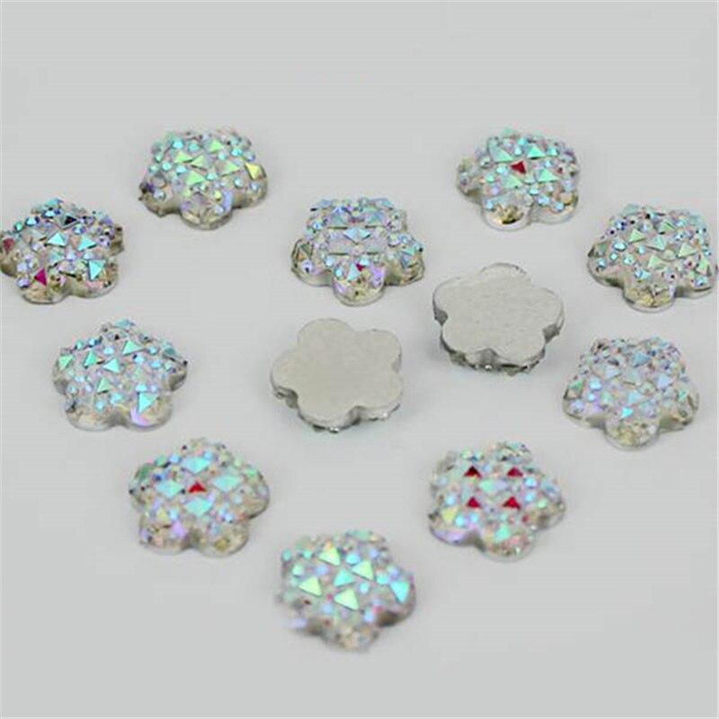 3 типа DIY белый ABS смолы сердце круглый цветок Форма Flatback Скрапбукинг для телефона/свадьба/платье/ногтей craft 40 шт./лот