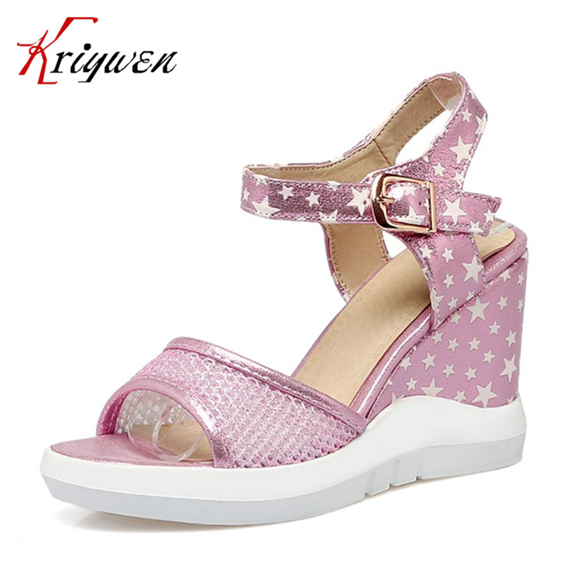 2017 summer Gladiator wedges Sandals Women party high Heels buckle wedding shoes woman beach bridal pink sandals Women's Shoes phyanic 2017 gladiator sandals gold silver shoes woman summer platform wedges glitters creepers casual women shoes phy3323