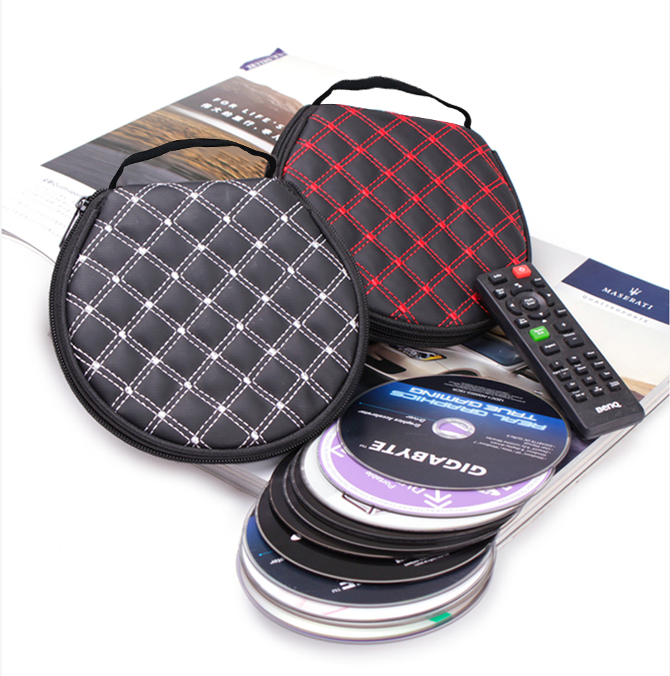 1PC 1PC CD Protector Bag Case Car Storage Bag Universal PU Leather Waterproof Car Organizerstowing Tidying Chair Door