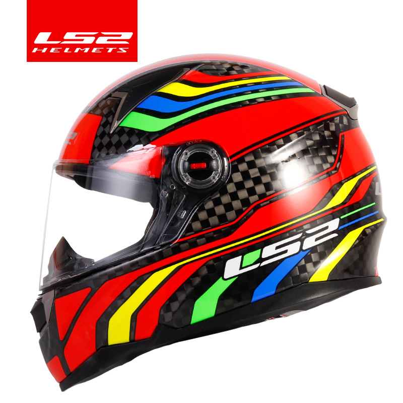 LS2 FF396 Carbon Fiber Motorcycle Helmet LS2 CT2 Full Face Helmet And FF323 12K Same Material Casco Casque Moto No Pump