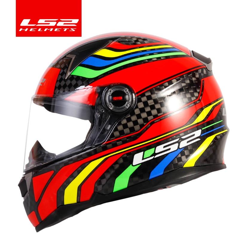 LS2 FF396 carbon fiber motorcycle helmet LS2 CT2 full face helmet and FF323 12K same material casco casque moto no pump