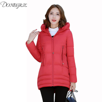 Cotton clothing female long section thick coat jacket 2019 new student winter Korean version of the winter clearance coat