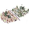 Soldado DA SEGUNDA GUERRA MUNDIAL Segunda Guerra Mundial 188 pçs/set Presente modelo de modelo de mesa de areia Modelo estático para o Comandante Militar Meninos