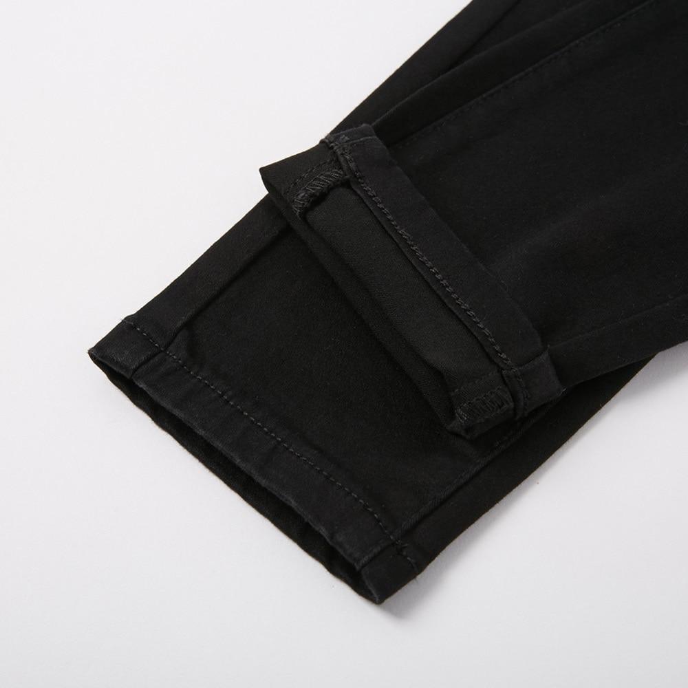 Панк рейв Новый дьявол в готическом стиле следы черные женские леггинсы модные выдалбливают панк эластичные женские тонкие сексуальные те... - 6