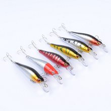 цены Artificial Fishing Lures Lifelike Floating Bait With Treble Hooks Simulation Fish Hard Bait Outdoor Fishing Tackle