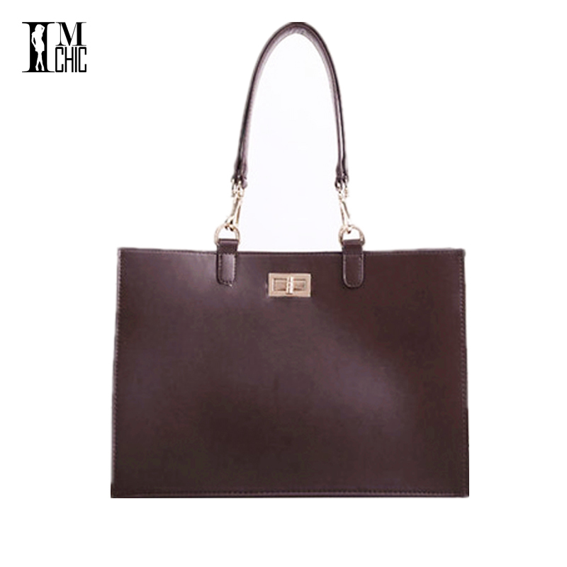 Designer Retro Pu Leather Vintage Women's Hard Briefcase Fashion OL Work Shoulder Bag Lady Elegant Handag Dark Brown Bolsos 616 essence еyebrow designer цвет 02 dark brown