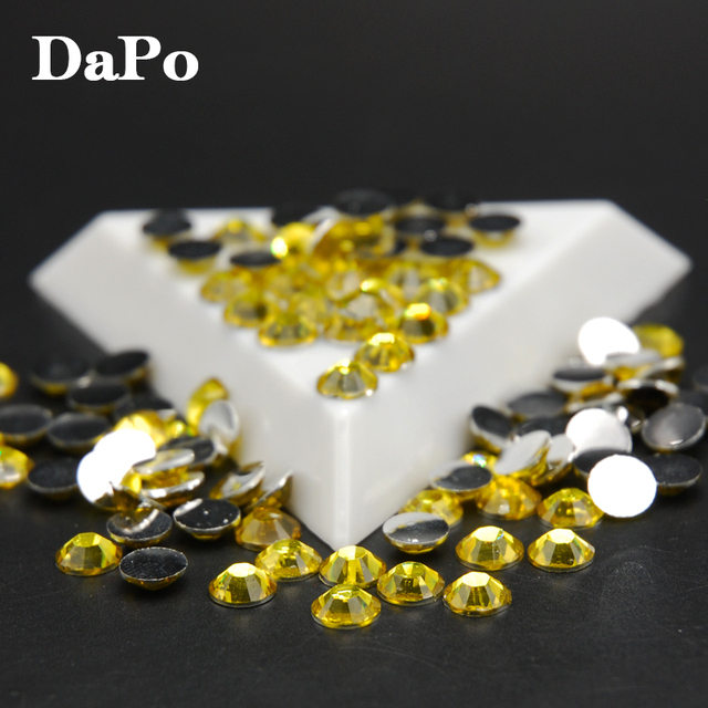 Stones 3D Citrine Color Round Glitter Nail Art Decoration Beads  Scrapbooking crafts DIY Tools Free Shipping 2 d71c3ae07cbf