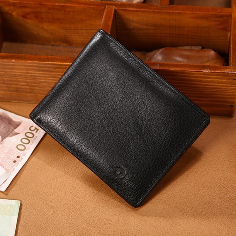 Excellent Quality 2016 New Leather Wallet Men Wallets Luxury Clutch Wallet Money Clip Men's Leather Wallet Male Purse