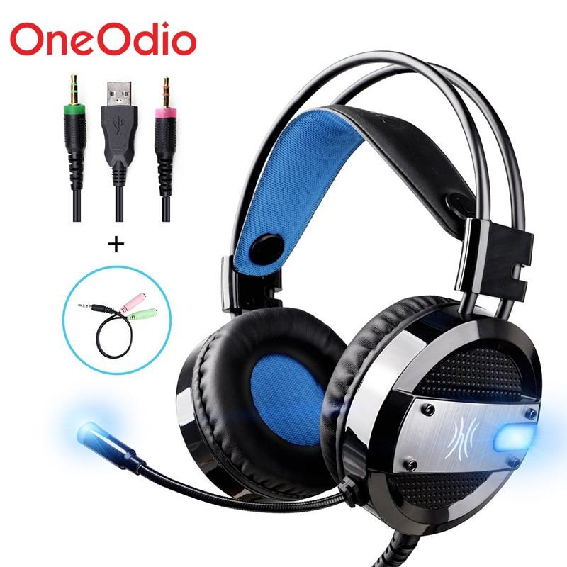 Oneodio Wired Gaming Headset Bassi Profondi Per Computer Xbox PS4 Gaming Cuffie con Microfono HA CONDOTTO LA Luce Per Il PC Del Telefono Xiaomi