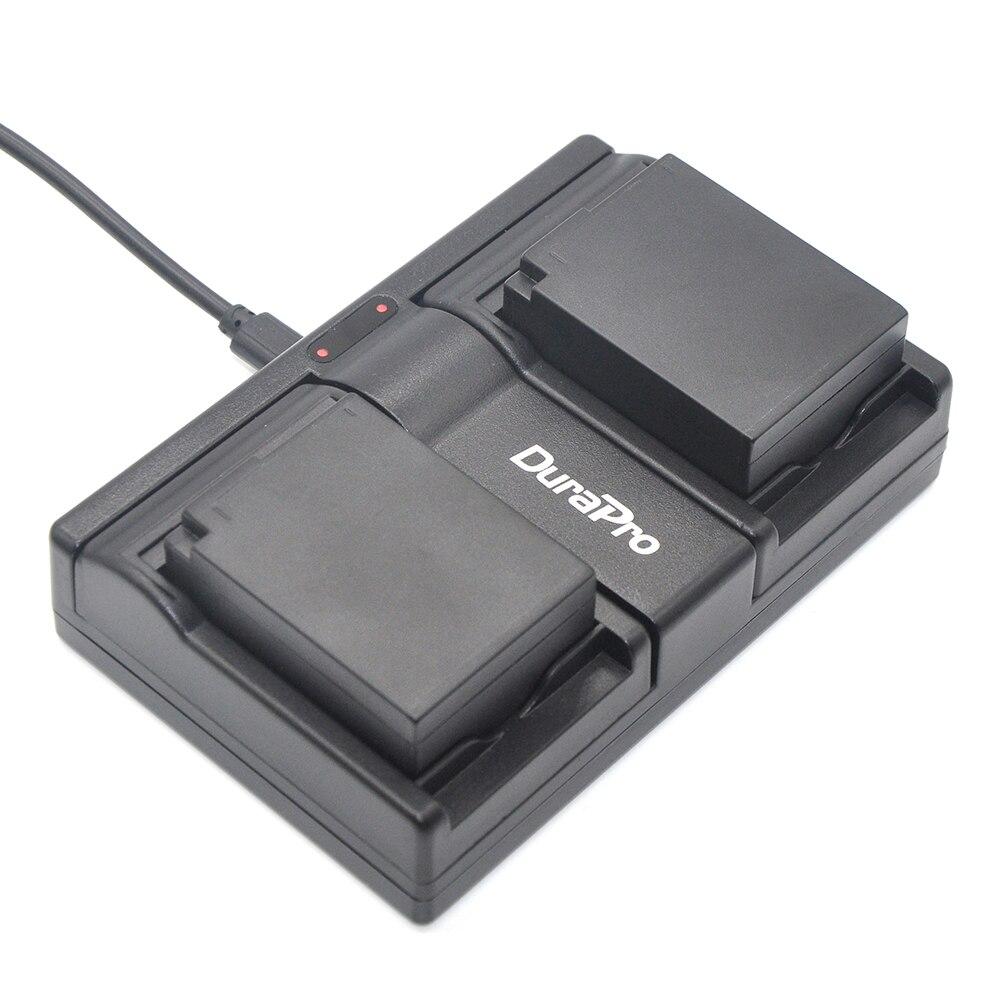 DuraPro 2 Stücke DMW-BLC12 BLC12E BLC12PP Batterie + USB Dual Charger für...