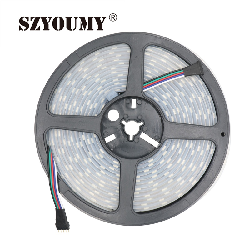 Led Strips Constructive Szyoumy Free Shipping 12v 5m 5050 Smd 60leds/m Tube 300leds Waterproof Ip67 Rgbw Led Strip Light Durable In Use