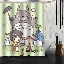 Custom Totoro Anime Shower Curtain 12 Hooks For The Bathroom High Quality Polyester Fabric Bath 3D Printing