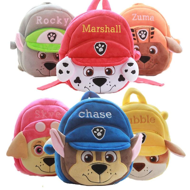 2019 New PAW PATROL Cartoon Kindergarten School Bag Baby  Action Figure Bag Toy Children's Backpack Doll Kids Toy Gift
