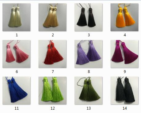 7.5cm Silk Tassels for Bag Cloth Decoration Tassels for Jewelry Earring Accessories