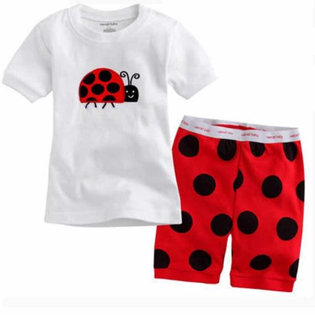 b37c29a32618 Online Shop Summer Kids Pajamas Baby Boys Girls Transport Print ...