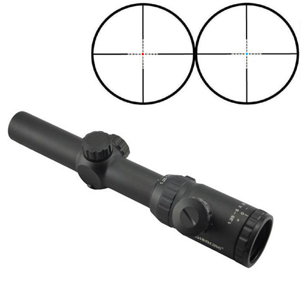 Visionking Aim Hunting Riflescopes 1 25 5x26 Waterproof Sniper Red Blue Dot Reticle Optics Sight 223