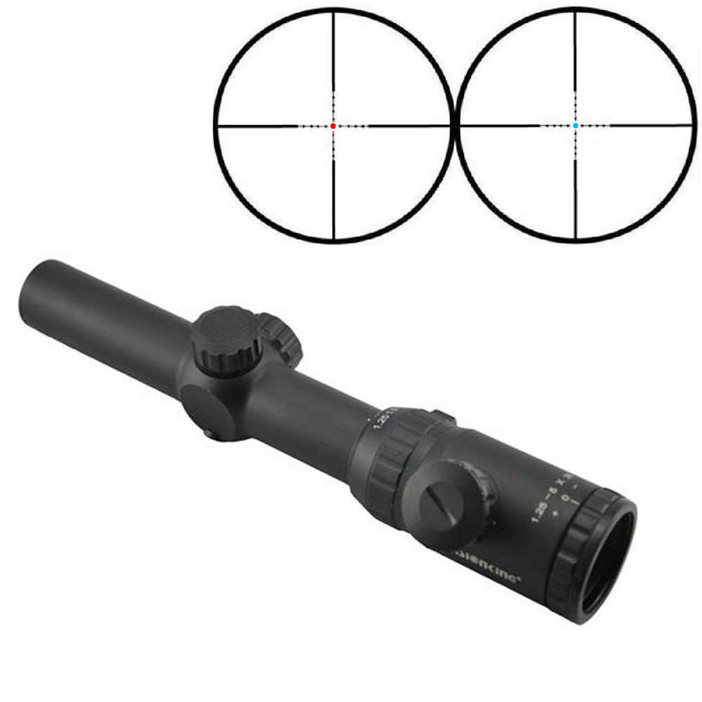 Visionking המטרה ציד Riflescopes 1.25-5x26 עמיד למים צלף אדום כחול דוט Reticle אופטיקה Sight. 223 Crosshair ארוך טווח היקף