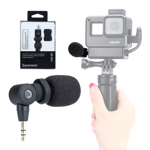 Saramonic SR-XM1 3.5mm TRS Microphone Plug and Play Mic for DSLR Cameras Camcorders Muff Windshield Gift with V2 V2 Pro Cage Multan
