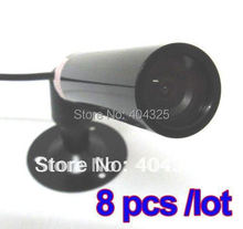 8pcs Mini Bullet Color Outdoor CCTV CMOS Security wide angle Camera 3.6mm lens