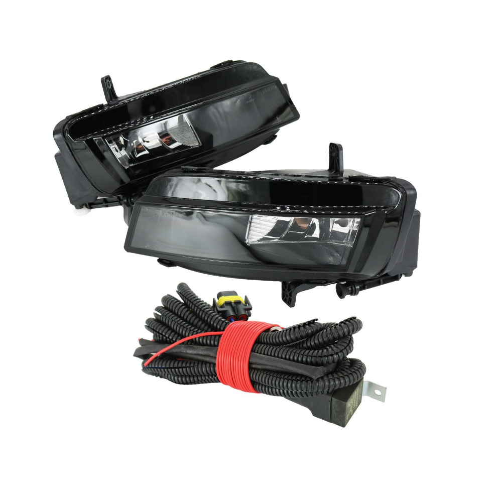 For VW Golf 7 GOLF MK7 VII TDI GTI TGI TSI 2012 2013 2014 2015 2016 2017 Car-styling Fog Light Fog Lamp With Bulbs And Wire real carbon fiber mirror cover case for vw golf 7 mk7 gti tsi vii jdm 2013 2015 [1031001]