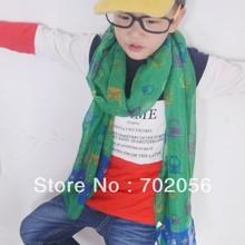Детская одежда Женский шарф с совами саронг Бандана Хиджаб обернуть шаль-пончо 160*50 cm Смешанные цвета 18 шт./лот#3359