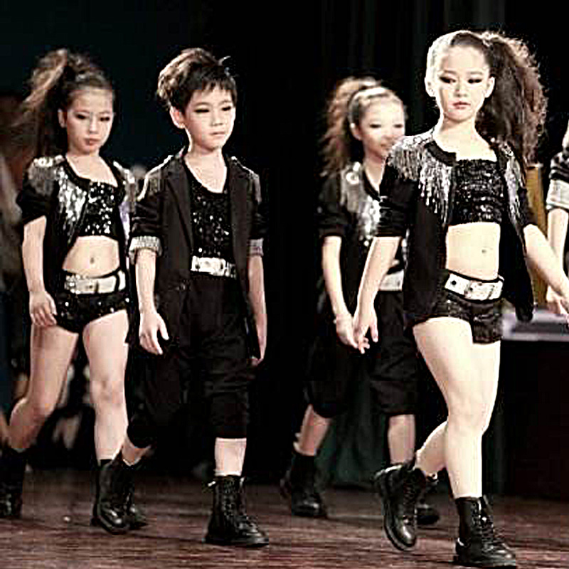 2017 Sixty one models comedy show costume children s hip hop performance suit jazz dance boys