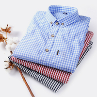 Ruoru Plus Size 4XL Men S Flannel Plaid Shirts Dress 2018 Male Casual Warm Soft Long
