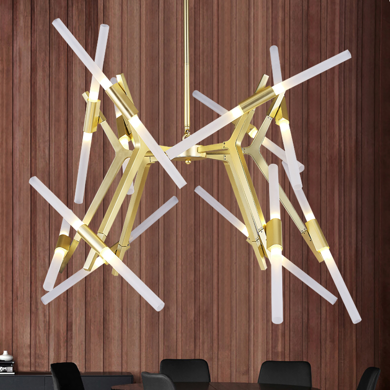 Roll Hill Agnes Modern LED Pendant Lights For Living Room Dining Room G9 Modern Creative Hanging Branch Agnes Pendant Light Lamp nordic modern 10 arm pendant light creative led hanging lamps tube rod toolery for living room dining room lamp home decoration