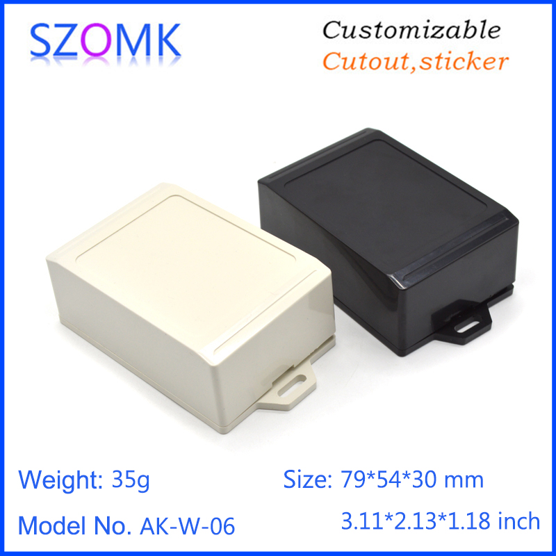 szomk wall mounted plastic enclosure for electronics project instrument plastic housing junction box abs plastic casing (8)